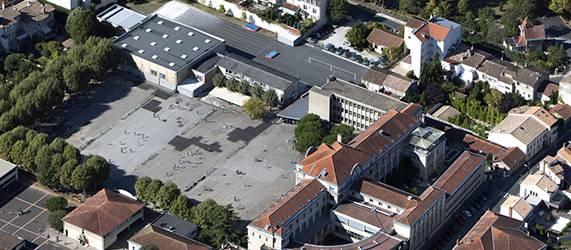 Vue aérienne de Tivoli